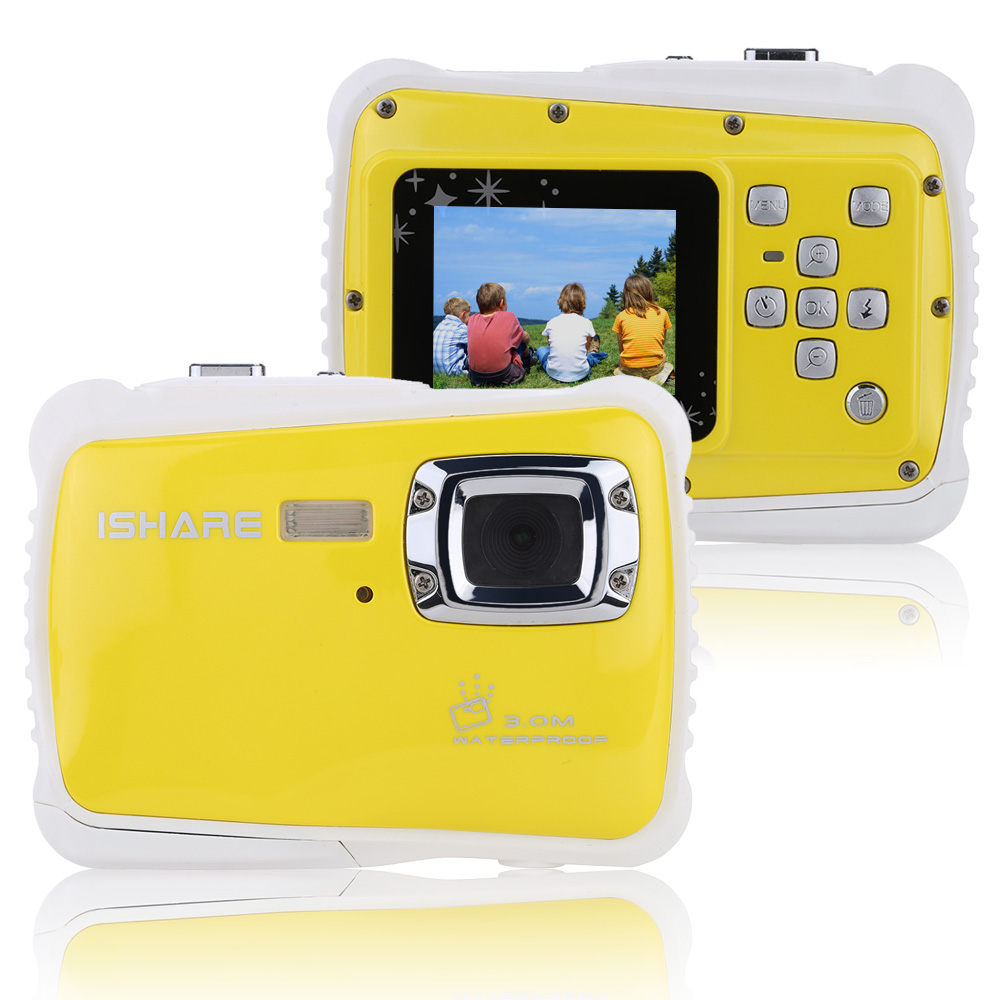 "Waterproof 3M 1.8"" LCD Screen 30fps HD 5MP Digital Camera Children Child Kids Portable Handy 720P CMOS-Sensor Mini Camcorder(China (Mainland))"