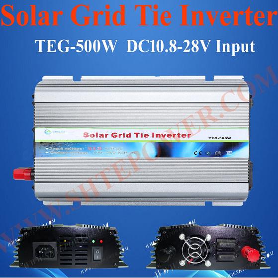 DC 12V 24V to AC 110V 120V 220V 230V 240V Grid Tie Solar Inverter 500W(China (Mainland))