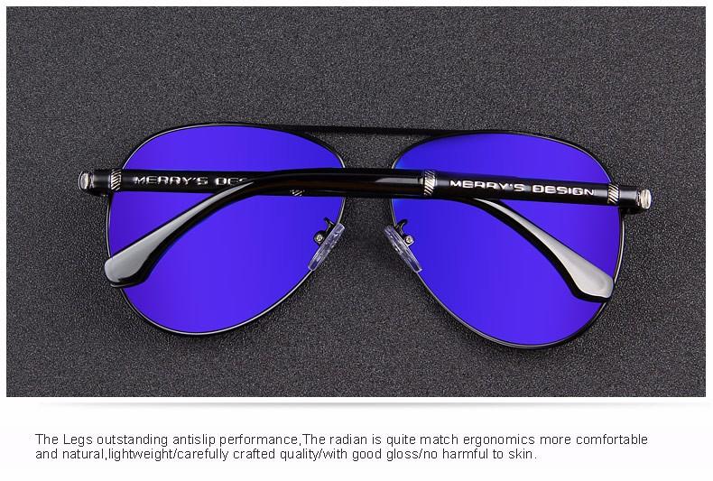 MERRY'S Fashion Classic Brand Design Sunglasses Men HD Polarized Aluminum Driving Sun glasses for Men Luxury Shades UV400 S'8728