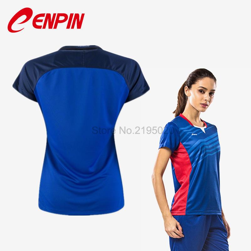CENPIN BLUE 2016 WOMEN SOCCER JERSEY Camiseta de futbol 2016 FRANCED WOMEN HOME AWAY GIRL JERSEY FOOTBALL UNIFORM SHIRTS(China (Mainland))