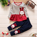 baby girls clothing sets cartoon 2015 spring/autumn children's wear cotton casual tracksuits kids clothes sports suit hot sale