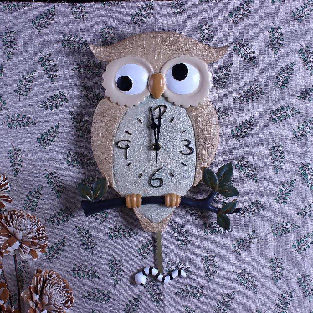night owl resin creative wall clock in living room geometric(China (Mainland))