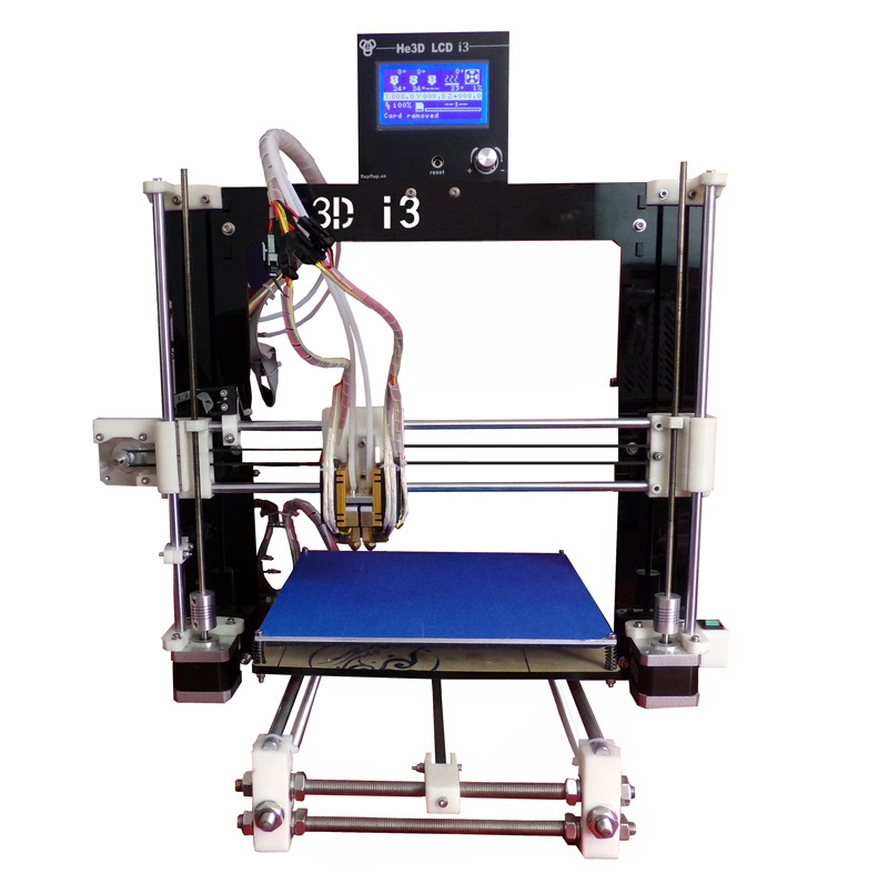 Reprap Prusa i3 Dual Extruder Two color DIY 3d printer kit with double heads 12864 LCD