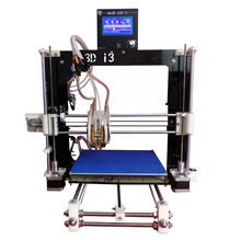 Reprap Prusa i3 Dual Extruder Double Heads Two-color  DIY 3d printer kit with heatbed