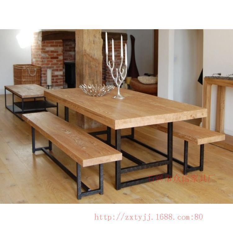 Online kopen wholesale bench eettafel uit china bench eettafel groothandel - Smeedijzeren stoel en houten ...