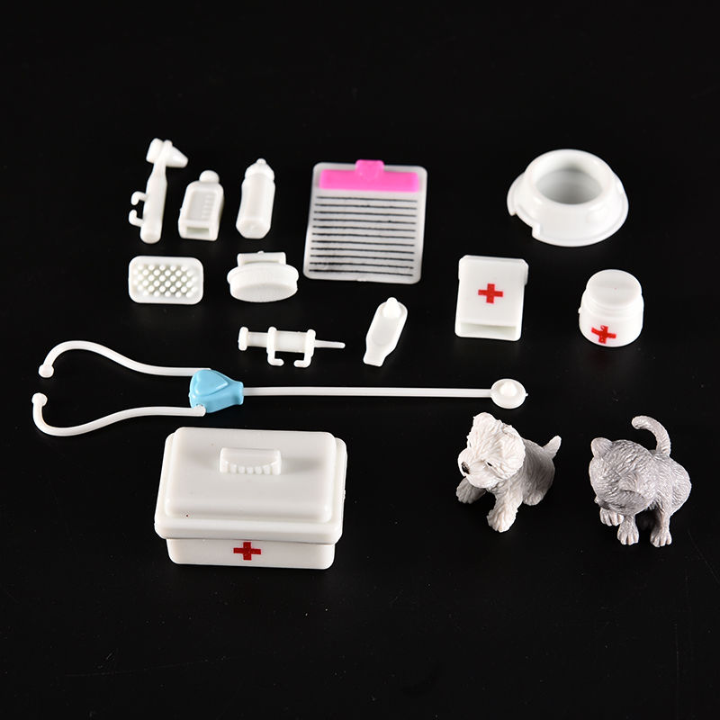 One Set Doll Accessories Toy medical kit Supplies Doll Pet Toys For barbie doll Baby Toys Christmas gift Doll House Decoration(China (Mainland))