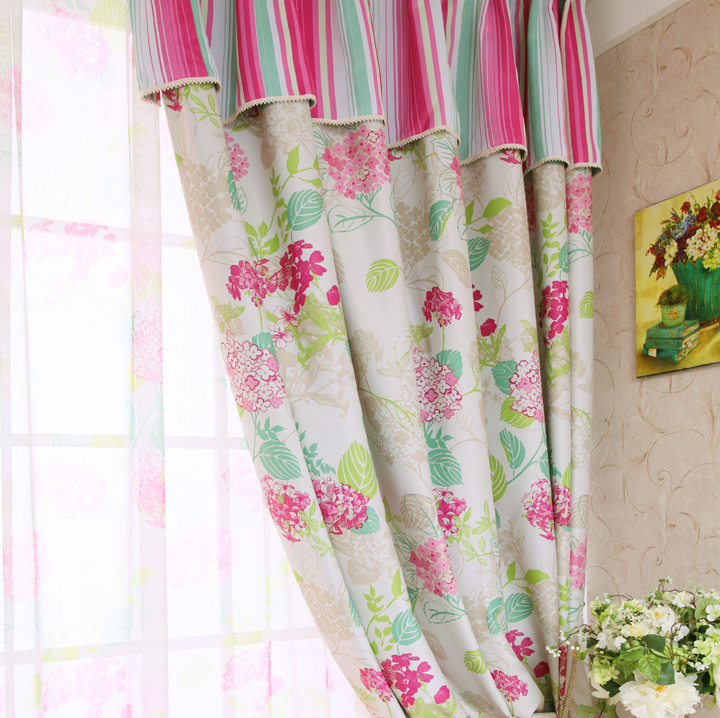 New Arrival Precision Curtain Double Faced Print Full Blocked Curtain high quality curtain finished product rustic brief style
