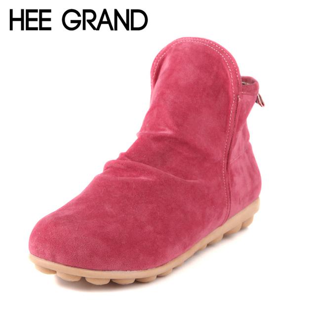 2014 зимы сапоги стиль моды твердая теплый женщина обувь ботинки для осени и зимы ...