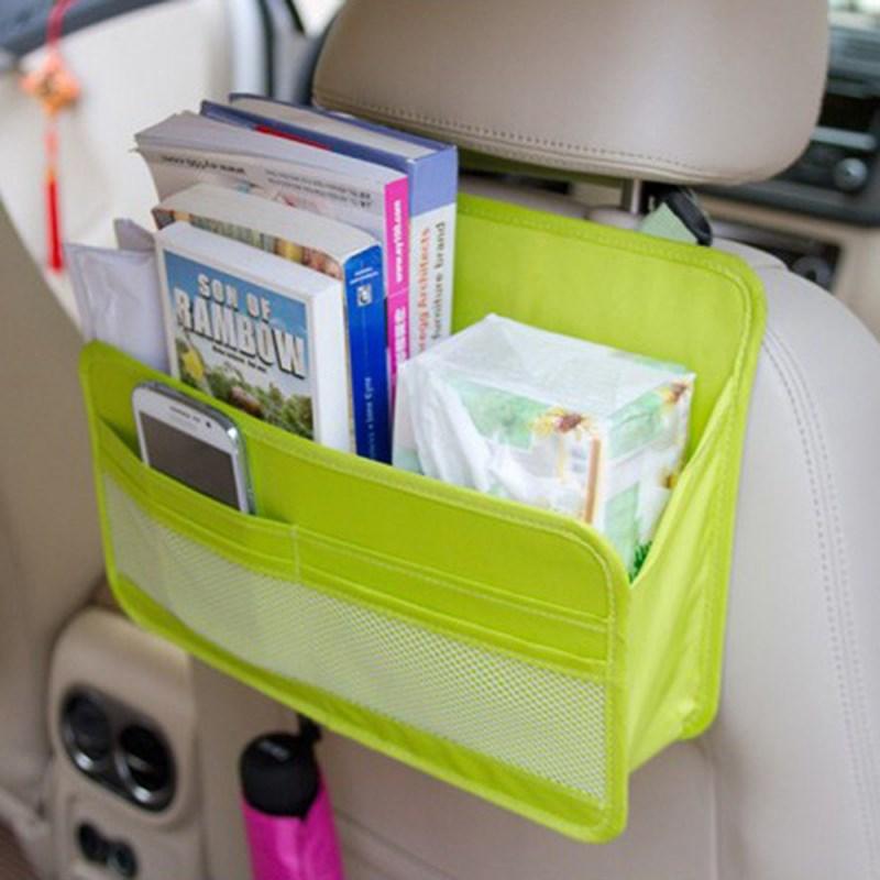 Travel Car Bag Organizer Auto Seat Back Storage Bag Multi Functional Organizer Pockets Hanging Backseat Organizing Box For Book(China (Mainland))