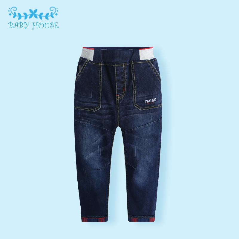 Фотография 2016 Spring/Autumn Fashion Loose Kids Pants Girls Baby Boys Jeans Children Jeans For Boys Casual Denim Pants 3-7y Baby Clothes