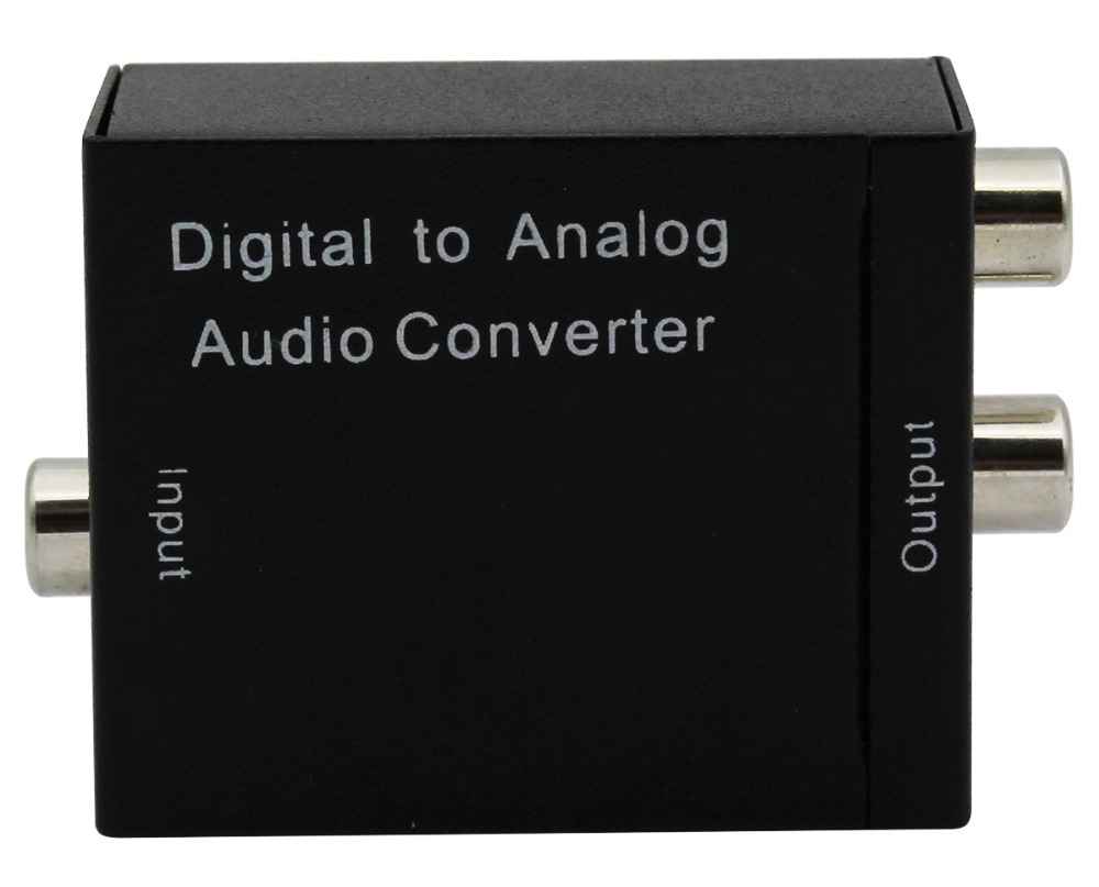 New Arrivals Digital to analog Converters Audio Converter Digital Optical Coaxial RCA Toslink to Analog Audio Converter Adapter(China (Mainland))
