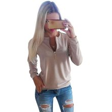 COCKCON Casual Ladies V-Neck Long Sleeve Hoodie Women Winter Jumper Pullover Tops(China (Mainland))