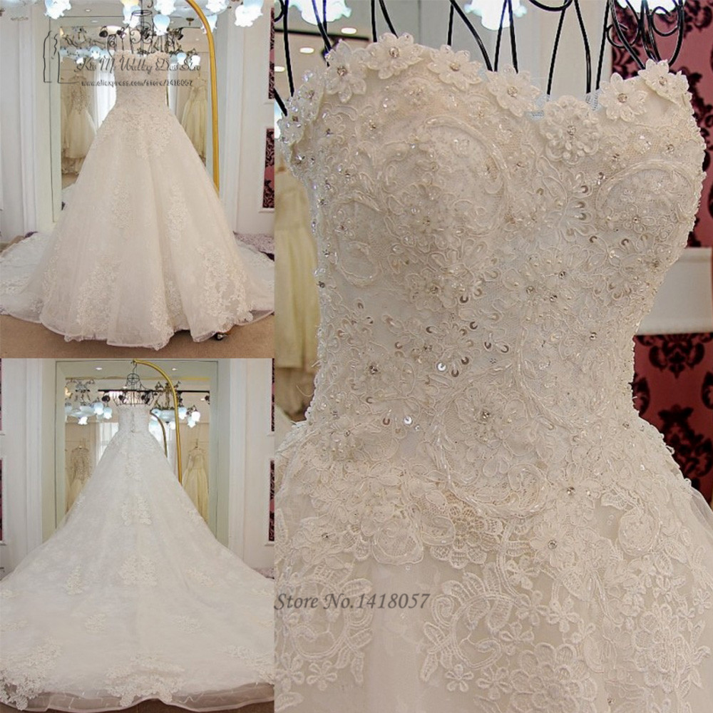 Korean princess wedding dress plus size lace wedding gowns for Princess plus size wedding dresses