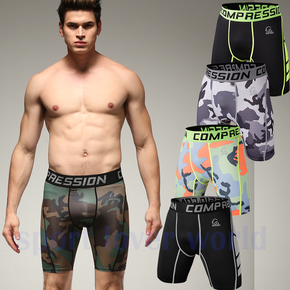 Newest Summer Army Compression Tights Shorts Men Spandex Quick Dry ...