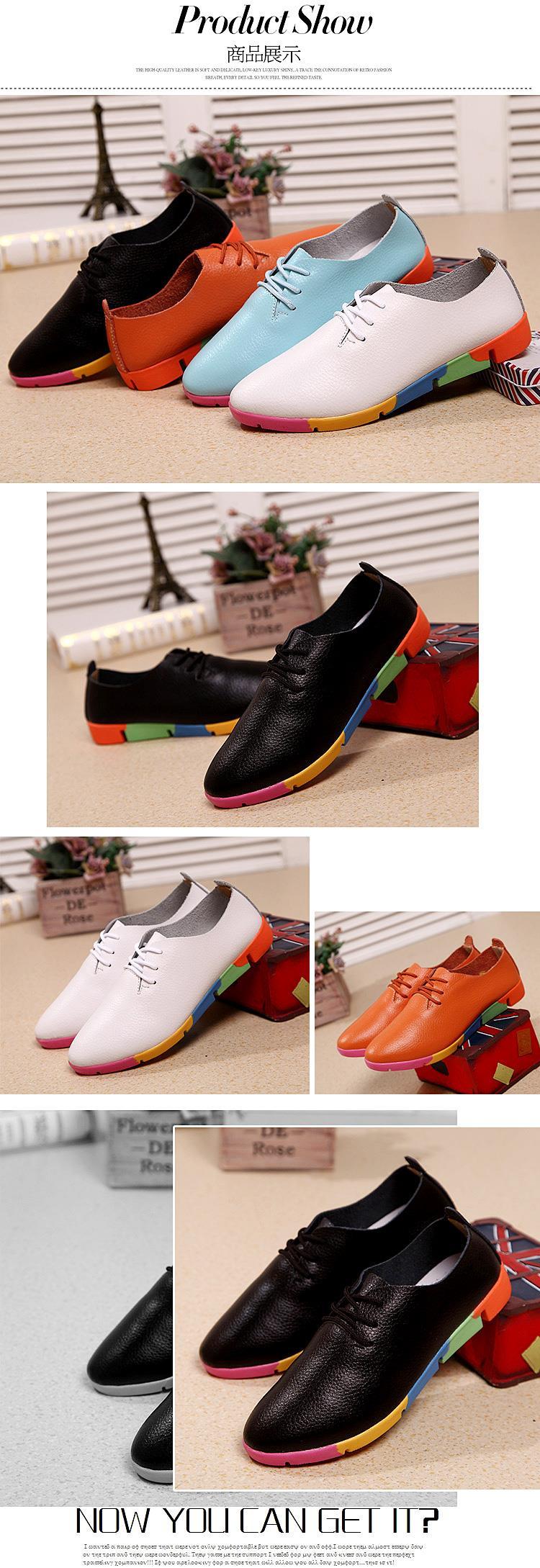 ซื้อ ผู้หญิงรองเท้าหนังวัวแท้ฟอร์ดสำหรับWomeแฟชั่นฤดูใบไม้ผลิและฤดูใบไม้ร่วงรองเท้าส้นแบนจัดส่งฟรี