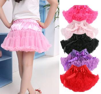 Girls Multi-List Solid Color Pettiskirt Bow-knot Skirt Girls Dance Tutu Skirt Free shipping&drop shipping KB0061