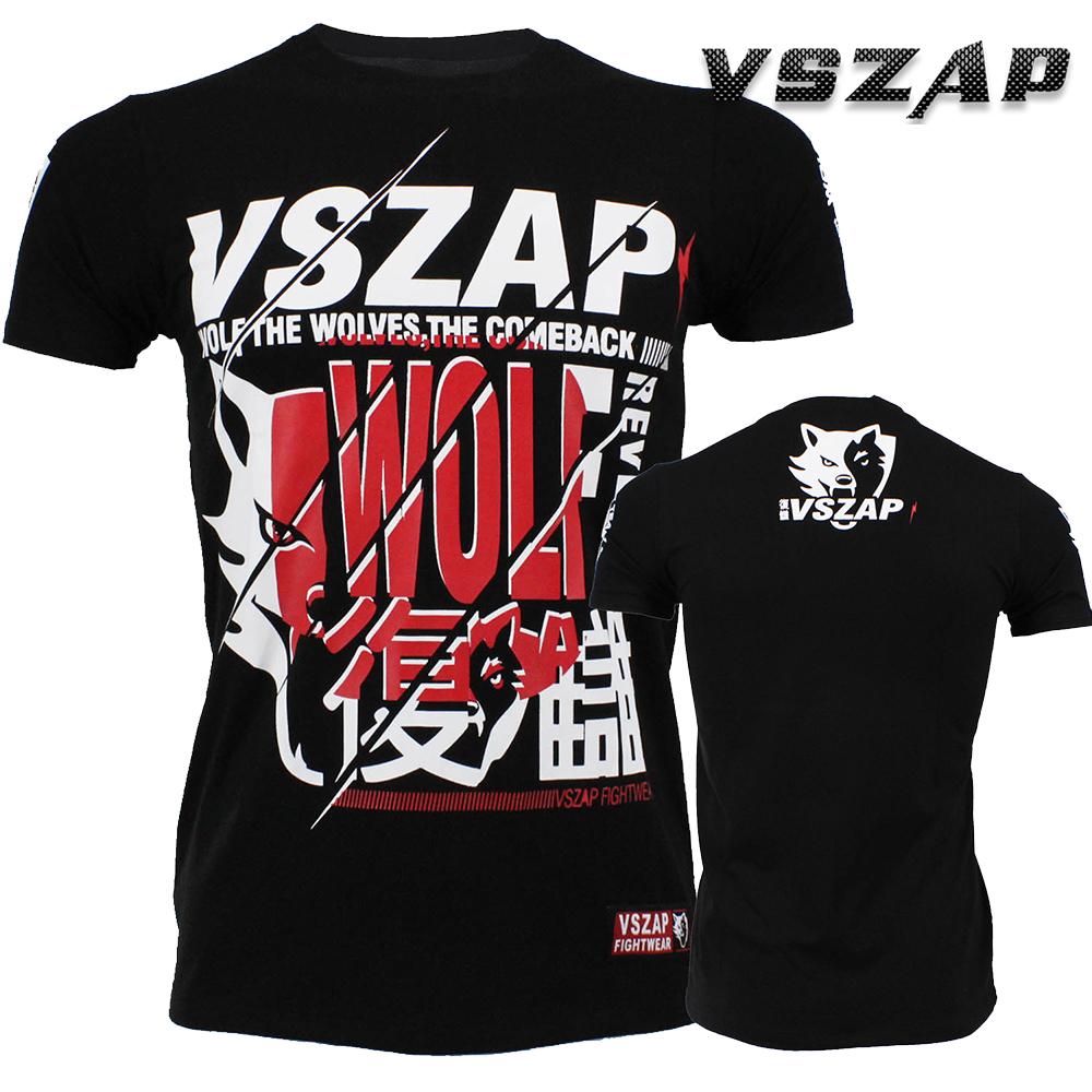 MMA Mixed Martial Arts Fight Wolf Fightwear VSZAP REVENGE wrestling Men t-shirt(China (Mainland))