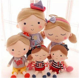 Hot Sale 30cm 2PCS Lovely Seashell Son A couple Toys Navy Boys and Girls Plush Doll Birthday Gift Free Shipping(China (Mainland))