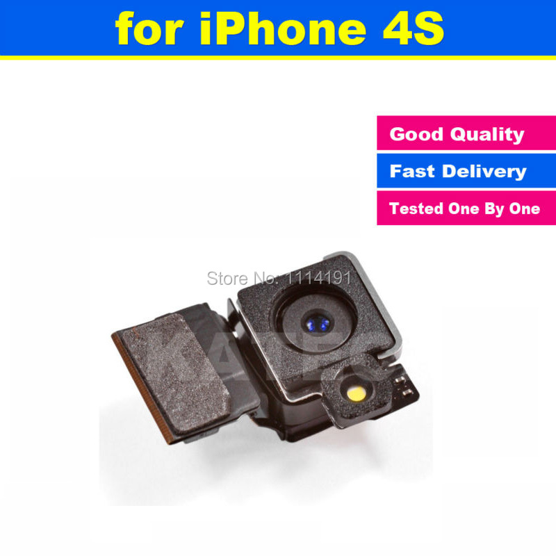 High Quality Spare Parts Back Rear Camera Facing With Flex Cable Focusing Replacement Parts for iPhone 4S(China (Mainland))