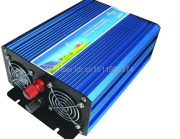 Hot Sell. High Efficiency 1500W DC12V/24V/12V Pure Sine Wave Inverter, Off Grid Tie Inverter, Solar Power Inverter(China (Mainland))