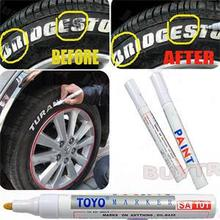 Car Permanent Paint Pen Tire Metal Outdoor Marking Ink Marker Creative Quick-drying Blue Paint Care Car Care(China (Mainland))