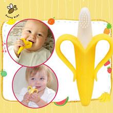 Банан Прорезыватель Экологически Безопасные Детские Силиконовые Зубная Щетка Детская Зубная Щетка Обучения детская Зубная Щетка(China (Mainland))