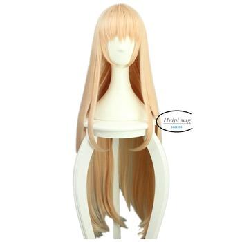 [Himouto! Umaru-chan] Doma Umaru Long straight Mixed Milk and Orange Cosplay Wig