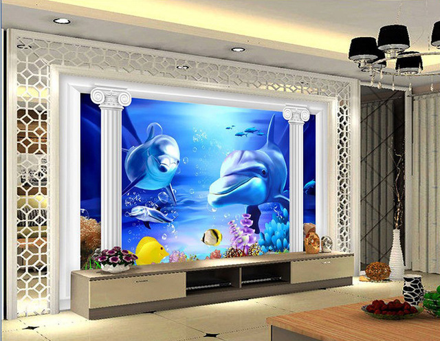 Realistic 3d relief ceramic tile 600 600 television for Living room 3d tiles