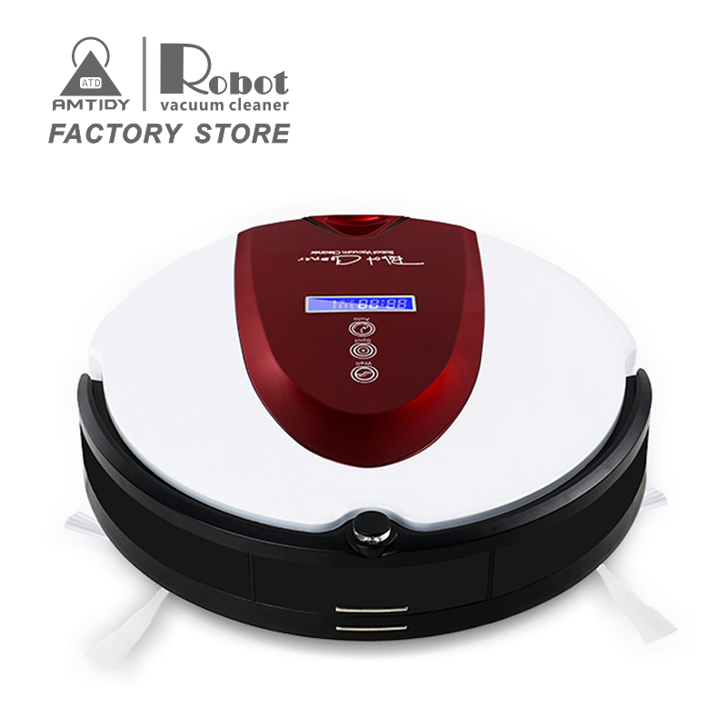 New 2017 Amtidy A330 robot vacuum cleaner with mop, Schedule,2Way Virtual Wall,SelfCharge with LCD hot on sale(China (Mainland))