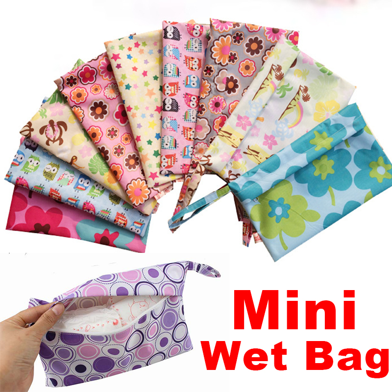 Reusable Waterproof Mini Small Wet Dry Diaper Bag Pouch For Menstrual Pads Nursing Pads Stroller Makeup Storage Bags 28*18CM(China (Mainland))