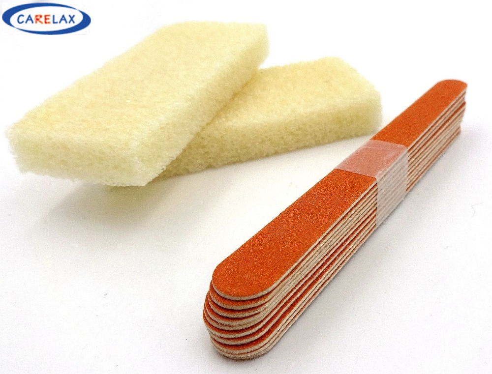 3pcs/Rubbing Foot Stone Grinding Foot &Body Stone Foot Care Massage Body Cleaning Purify Cutin Calluses Orange Nail Files Set