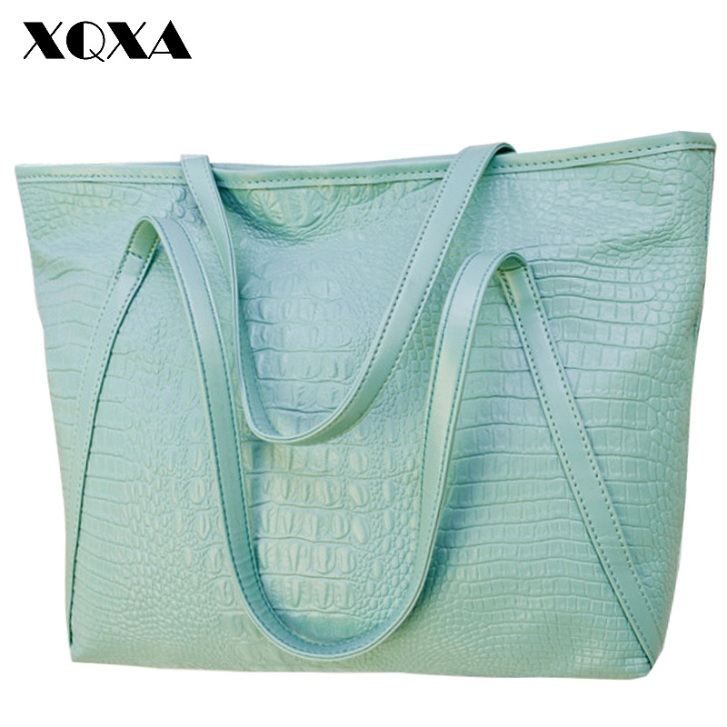 PU Leather  Women Shoulder Bags Female Light Weight Big Tote Bags Casual Large Capacity Ladies Handbag Designer Bolsas Femininas<br><br>Aliexpress