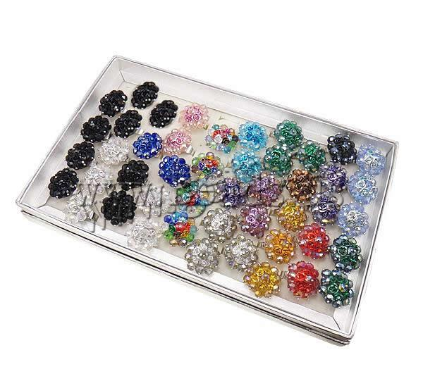 Free shipping!!!Crystal Finger Ring,Cute Jewelry, Iron, with Crystal &amp; Aluminum, platinum color plated, colorful plated<br>