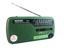 DEGEN portable mini fm radio DE13 FM MW SW Crank Dynamo Solar Emergency Radio World Receiver A0798A Alishow