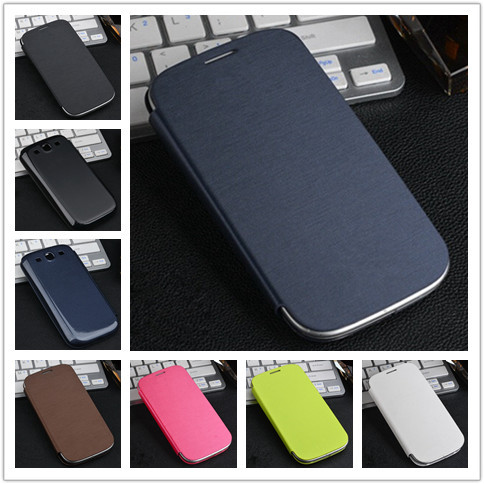 Original Flip PU Leather Back Cover Battery Housing Case for Samsung Galaxy S3 i9300 9300 Mobile Phone Cases(China (Mainland))