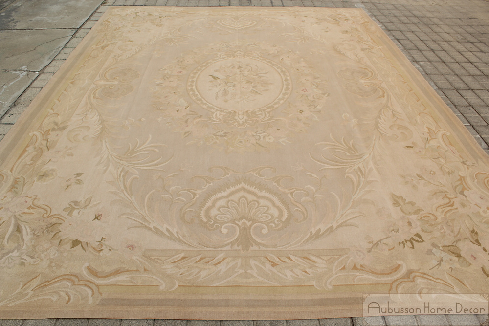 7X10 ANTIQUE FRENCH DECOR Aubusson Area Rug PASTEL COUNTRY
