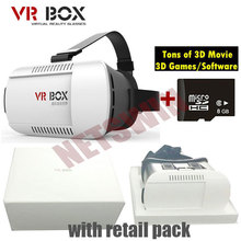 2015 Google cardboard VR BOX Version VR Virtual Reality Glasses + 8GB Micro SD + 3D Movies 3D Games and Software(China (Mainland))