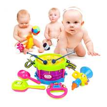 1 set /5 pcs Baby toys 0-1-3 years old children baby hand clap drum beat drum educational toys #FM0429(China (Mainland))