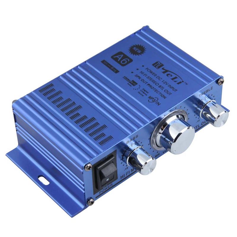 Hi-Fi Mini Digital Car Truck Motorcycle Stereo Audio Power Amplifier Support MP3 Hi-Fi Audio CD DVD Durable Player(China (Mainland))