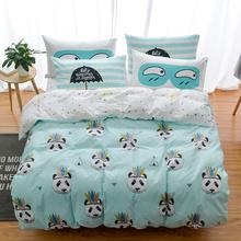 100% Cotton Owl Panda Fox Cat Bedding Set Cartoon Modern Flower Queen Size Stripe Bed Duvet Cover Bed Sheet Bed Linen Pillow(China (Mainland))