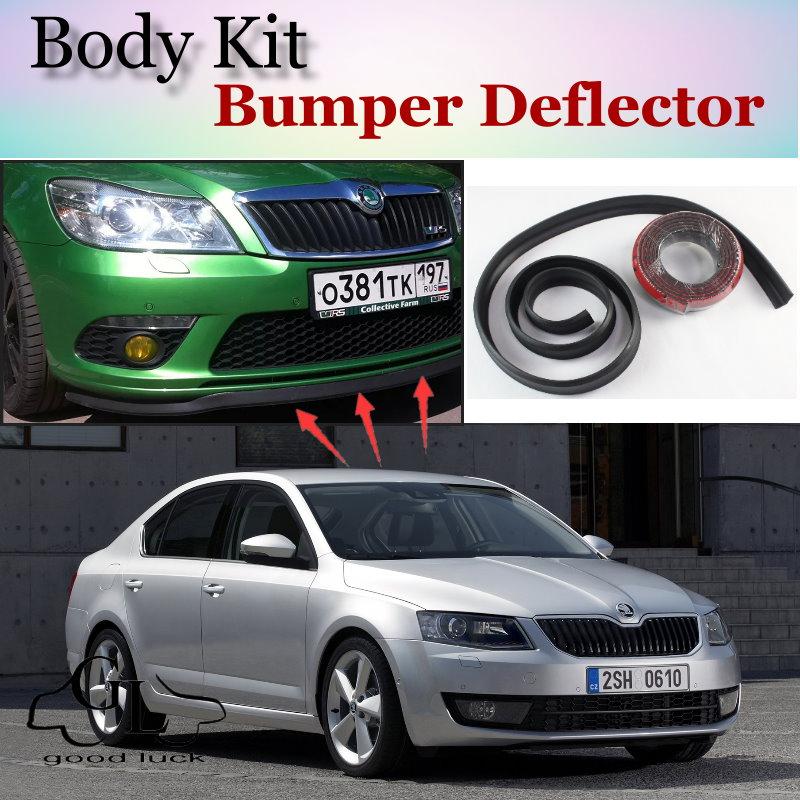 Bumper Lip Deflector Lips For Skoda Octavia / Laura Front Spoiler Skirt For TopGear Friends Car Tuning View / Body Kit / Strip