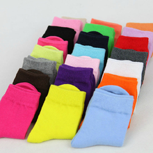 1 9 Years Children Candy Color Cotton Socks For Baby Girls 2015 Spring Autumn Solid Color
