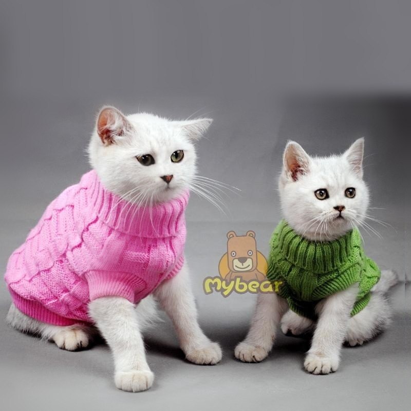 NEW Spagetti Color Warm Autumn Winter Dog Cat Sweater Pet Jumper Cat Clothes For Small Cat