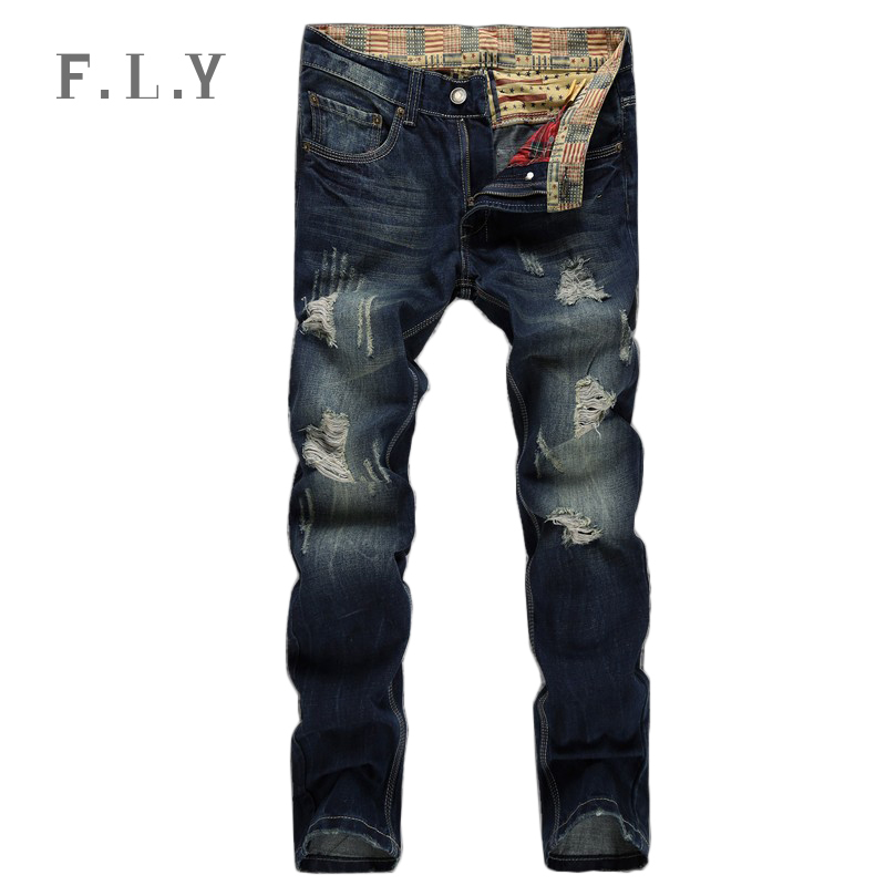 HOT jeans men fashion ripped distressed destroyed denim pants plus size pantalones vaqueros hombre marce mens casual MYA0091(China (Mainland))