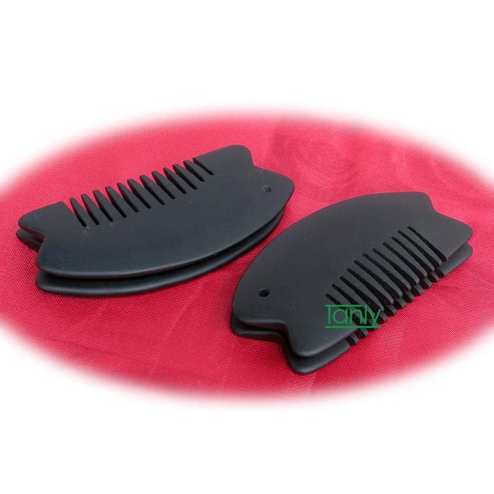 Wholesale & Retail Black Bian Stone Massage Guasha Comb health care product  (95x50mm)  Wholesale & Retail Black Bian Stone Massage Guasha Comb health care product  (95x50mm)