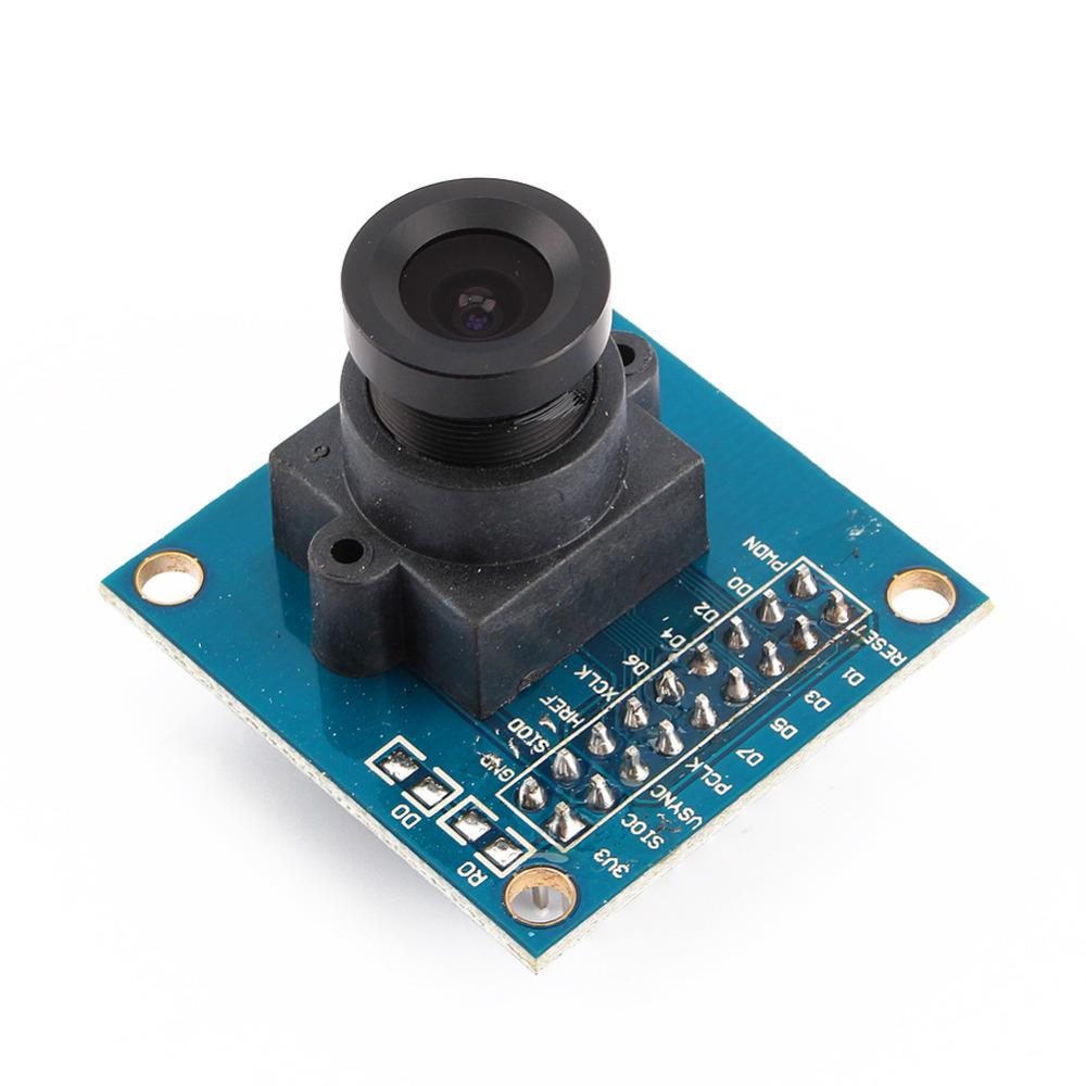 New OV7670 VGA Camera Module Lens CMOS 640X480 SCCB w/ I2C Interface Auto Exposure Control Display Active For Arduino(China (Mainland))