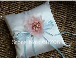 NEW wholesale & retail Satin Wedding Ring Pillow