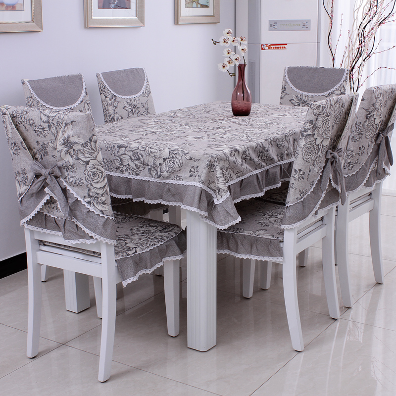 Dining Table Cloth Cushion Chair Covers Pad Back Cover Single P