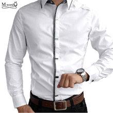 Top qualité 2015 nouveaux hommes occasionnels chemises à manches longues hommes rocher Shirt hommes Slim Fit homme 100% coton chemise(China (Mainland))