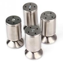 4pcs/pack Stainless Steel Modern Sofa Legs Furniture Adjustable Feet Height Kitchen Leg Silver(China (Mainland))